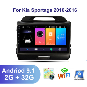 Android 9.1 car Stereo Radio Multimedia Video Player For KIA Sportage 3 2010 2011-2016 2 din Autoradio Navigation Gps Wifi FM BT image