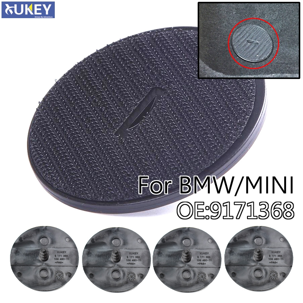 Car Floor Mat Screw Hook Fastener Clips FOR BMW MINI 4Pcs in Carpet type