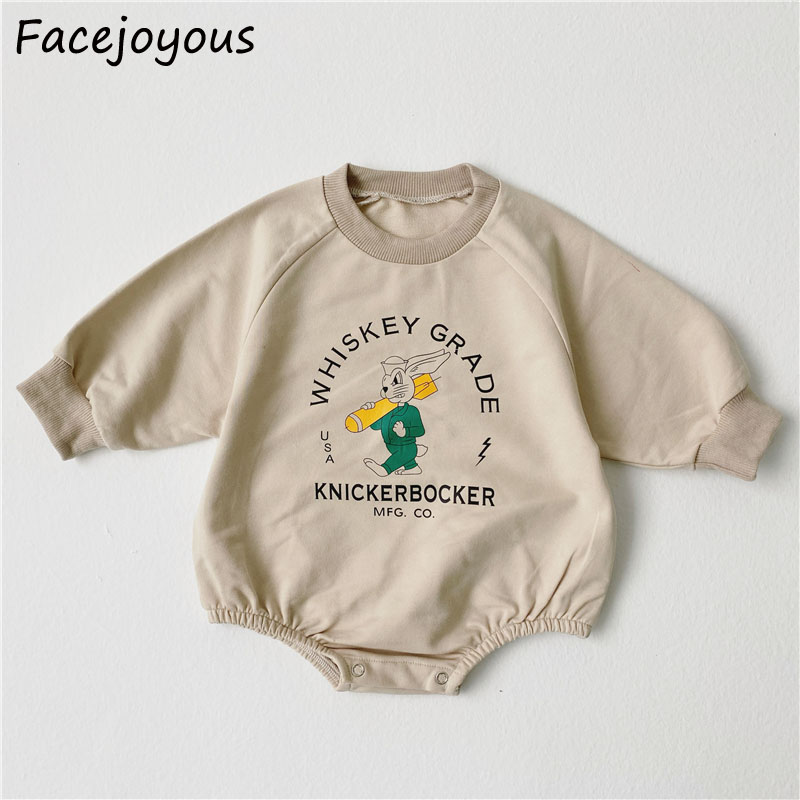 0-24M Newborn Baby Girl Boy Bodysuits 2020 Spring Cartoon Printed Cotton Long Sleeve Body Suit O-neck Clothes Jumpsuit Outfit