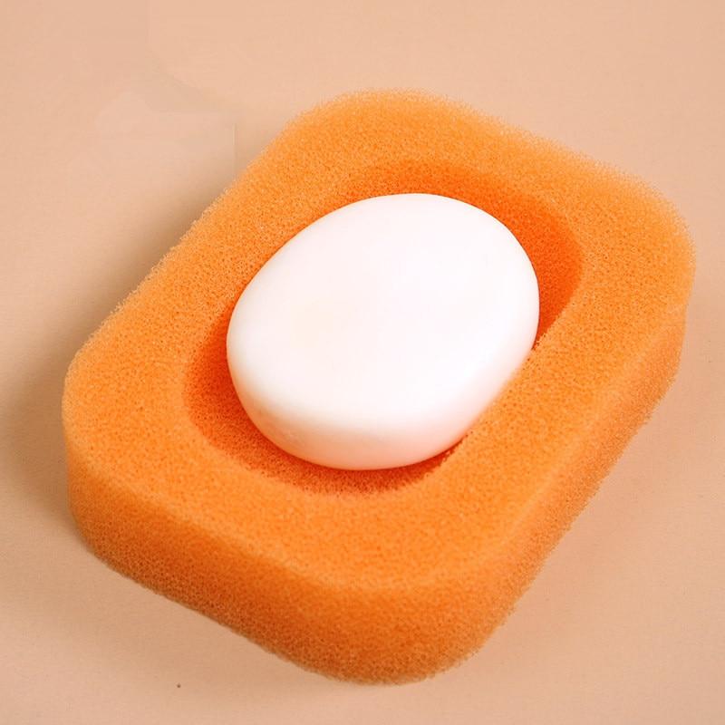 Поднос для мыла для ванной комнаты, впитывающая губка, мыльница, держатель для слива, диспенсер для ванной комнаты, домашний отель, горячая вода - Цвет: C
