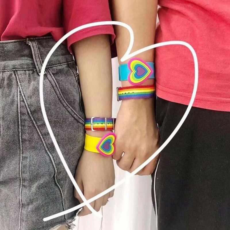 Rainbow Follow Heart Infinity Love Wins GLBT Rights Men's Teacher Running LGBT Pride Bracelets for Women