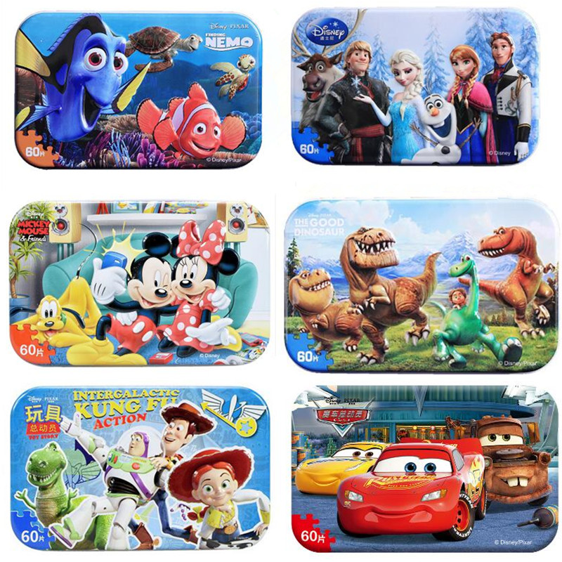 Snow White Frozen Toys Spiderman Puzzle Toy Children Wooden Jigsaw Puzzles Kids Educational Toys For Children Christmas Gift