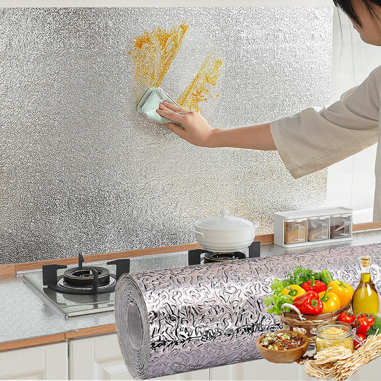 A Generation Of Fat Kitchen Oil Resistant Useful Product High-temperature Resistant Self-Adhesive Wallpaper Kitchen Stove Waterp