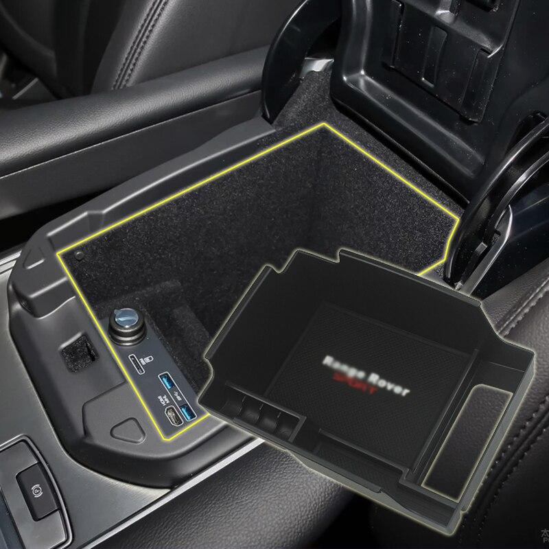 Black Car Central Storage Box Door Glove Armrest Box For Range Rover Vogue SE 2013-2019 For Range Rover Sport 2014-2019 Styling