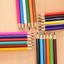Painting-Pen-Set Pencils 12-Colors Art-Supplies School-Stationery Drawing Wooden