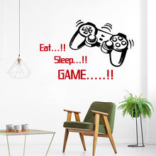 Beauty eat sleep game quote Настенная Наклейка в детскую комнату