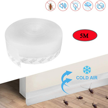 Door-Seal-Strip Draught Insect Self-Adhesive Dust Soundproofing Silicone 5M Width35mm