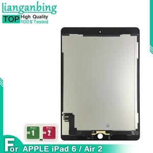 LCD +Adhesive For Apple Ipad Air 2 ipad 6 A1567 A1566 Full Lcd Display With Touch Screen Digitizer Panel Assembly Complete(China)