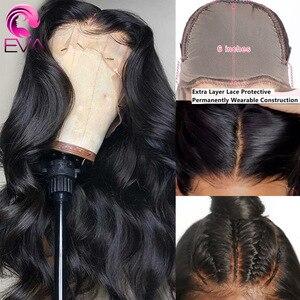 Image 1 - Eva koronkowa fala peruka Front 13x6 koronki przodu włosów ludzkich peruk wstępnie oskubane 5x5 HD zamknięcie koronki peruka brazylijski fałszywe skóry głowy ludzki włos peruka Remy
