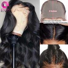 Onda do corpo de eva peruca dianteira do laço 13x6 frente do laço perucas de cabelo humano pré arrancadas 5x5 hd fechamento do laço peruca brasileira falso peruca do couro cabeludo remy