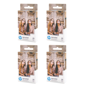 UniPlus 80 Sheets Photo Paper for HP Sprocket Photo Printer HP ZINK 5x7.6cm Wallet Pocket Photo Snapshot Sticky-backed Paper