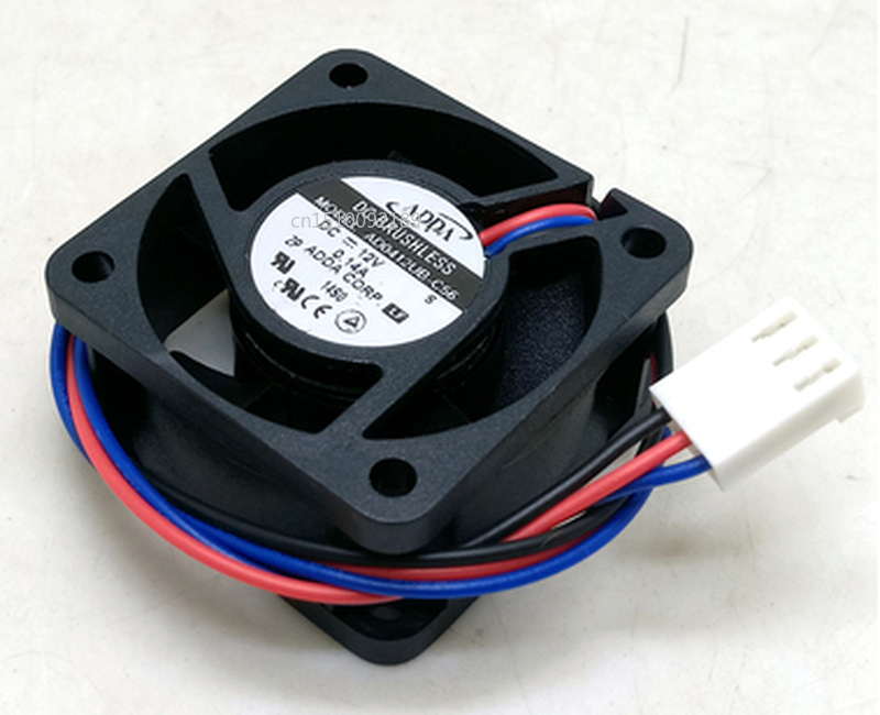 Free Shipping AD0412UB-C56 G DC 12V 0.14A 40x40x20mm Server Cooler Fan