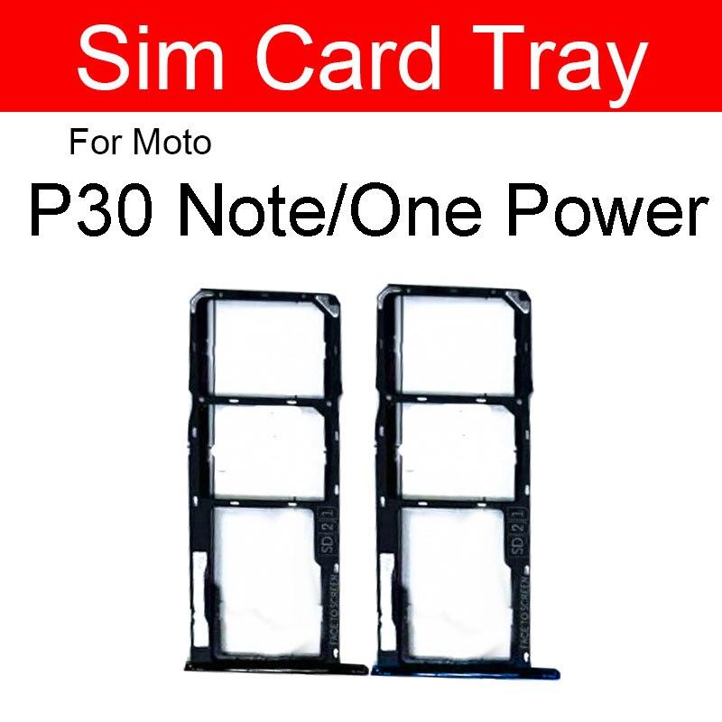 Держатель лотка для sim-карты для Motorola Moto One Power/P30 Note Sim Micro Card Reader Slot Socket Adpter Запасные Запчасти