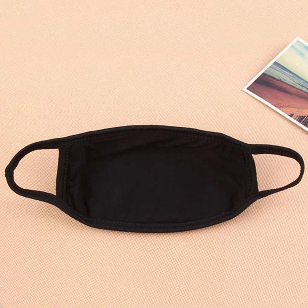 Anti Dust Mouth Mask Cotton Blend 3-layer Nose Protection Mask Black Fashion Reusable Masks For Man Woman