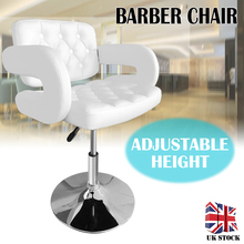White Hairdressing Chair Lifting Handle Hair Cut Salon Chairs Luxury Adjustable Height Barber Chair Barbershop Furniture
