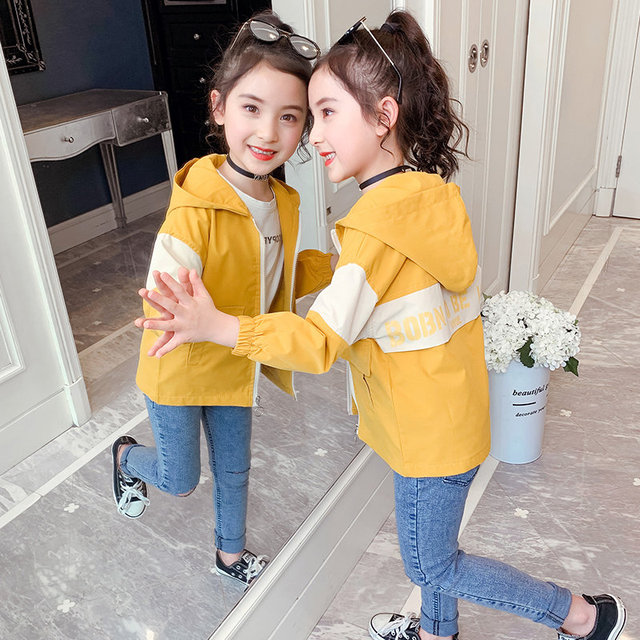 Cute Toddler Kids Baby Girls Jackets Hoodies Coat For Girl Outerwear Spring Fall Patchwork Clothes Teen Casual Windbreaker 4-13T