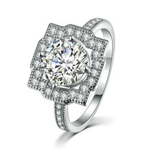 Женское Обручальное кольцо с натуральным драгоценным камнем