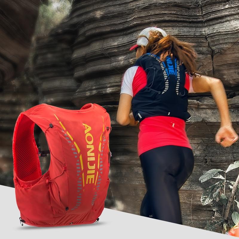 AONIJIE Advanced Skin Hydration Backpack Hiking Trail Running Marathon Race Pack Bag Vest Soft Water Bladder Flask 12L - 5