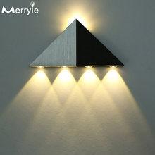 Алюминиевый треугольный светодиодный настенный светильник 5