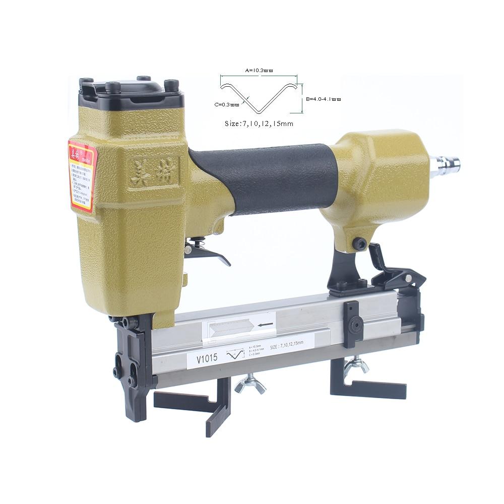 High Quality V1015 Pneumatic V Nailer Frame Nailer Gun Air  Nail Gun Nailer  V-type Nail 4*10.3mm 7-15mm Frame Stapler Gun Tools