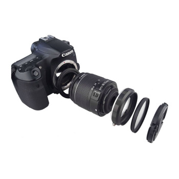 Camera Macro Lens Reverse Adapter Set for Canon EOS 70D 80D 700D 750D 800D 1200D 100D 200D 5D2 5DIII 5DIV 6D Mark II 77D 7D DSLR dste bg e20h battery grip for canon eos 5d mark iv 5div 5d4 with remote control dslr camera