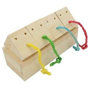 Деревянные игрушки-кормушки для птиц, игрушки ligence для средних и больших попугаев Sun Conures, Caique, Cockatoo, Macaws