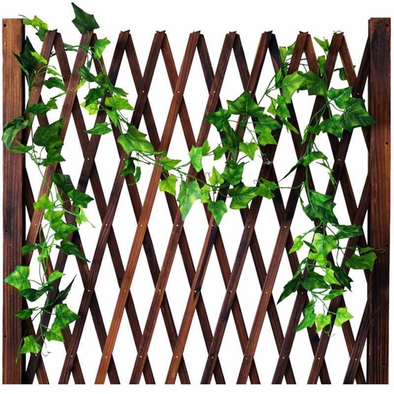 2.5 m decoração de casa folhas de hera artificial garland plantas videira falso flores trepadeira verde coroa de hera folhas de grama artificial