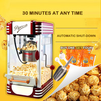 Newpopcorn Machine Commercial Full Automatic Hand cranked Minismall Children's Popcorn Machine Ball Type Household Grain Wrapper