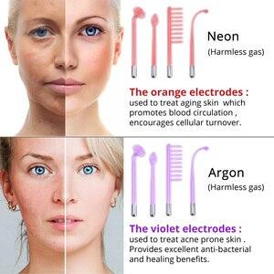 Image 2 - Darsonval Wand 4 en 1 removedor de alta frecuencia para el cuidado de la piel Facial Spa salón de terapia de acné + 1 Adaptador europeo Glaselektrode