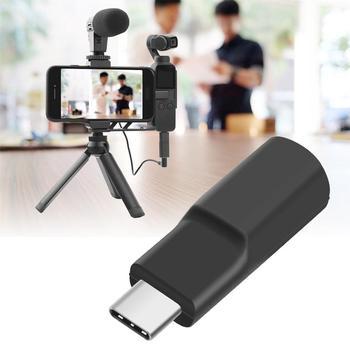 USB-C до 3,5 мм микрофон адаптер Карманный аудио адаптер для DJI Osmo Карманный конвертер для микрофона