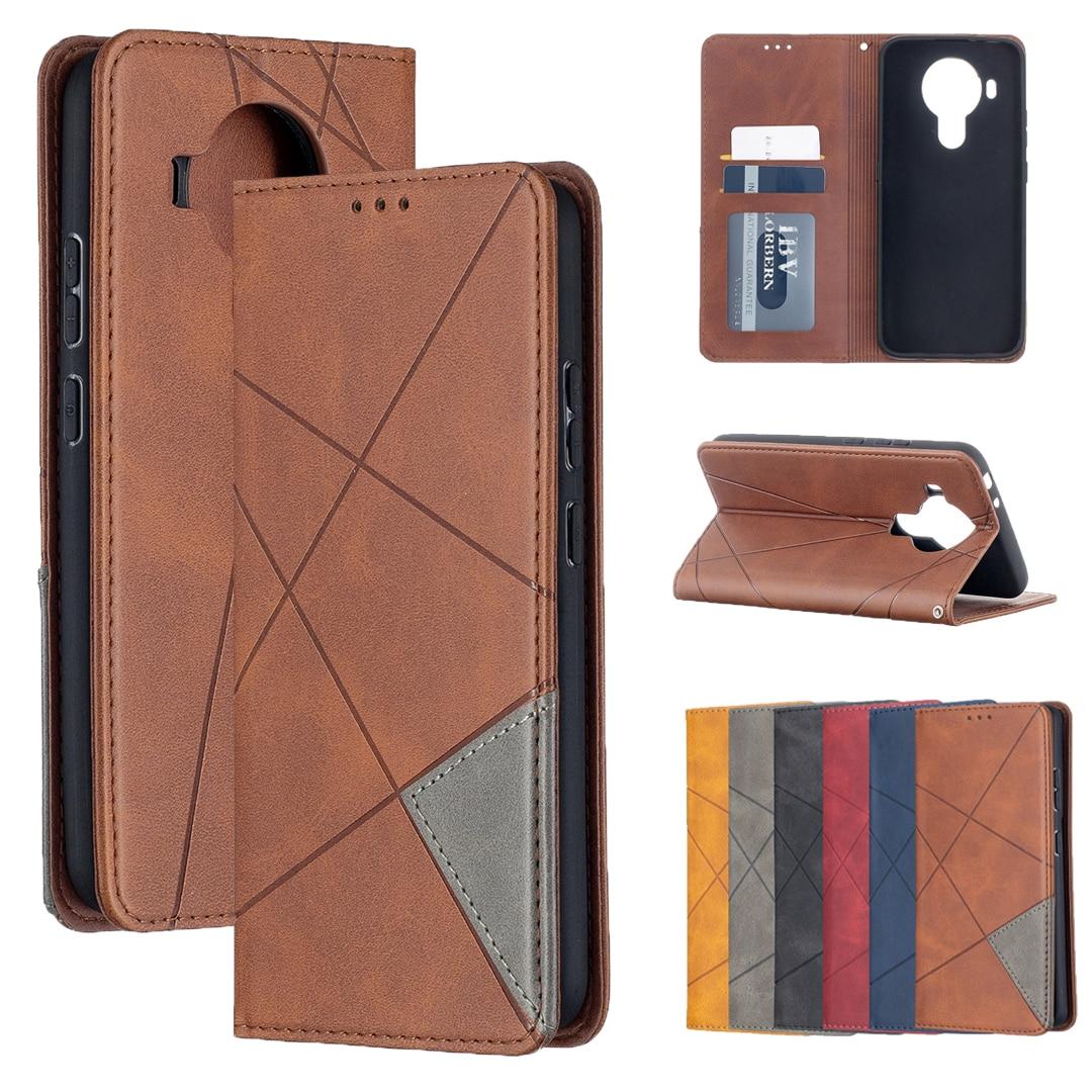 For Nokia 5.4 3.4 2.4 5.3 2.3 1.3 7.2 6.2 4.2 3.2 2.2 1 Plus Prismatic Case Flip Wallet Business Leather Case