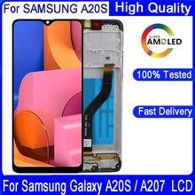 100% Original 6.5 Lcd Voor Samsung Galaxy A20s A207 A2070 SM A207F Lcd Touch Scherm Digitizer Vergadering Repacement