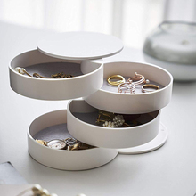 4-Layer Jewelry Storage Box 360 Degrees Rotary Holder Organizer Earrings Necklace Bracelet Watches Small Item