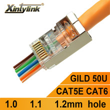 xintylink EZ rj45 connector cat6 jack rg rj 45 SFTP ethernet cable plug rg45 cat5e FTP cat 6 network shielded cat5 high quality