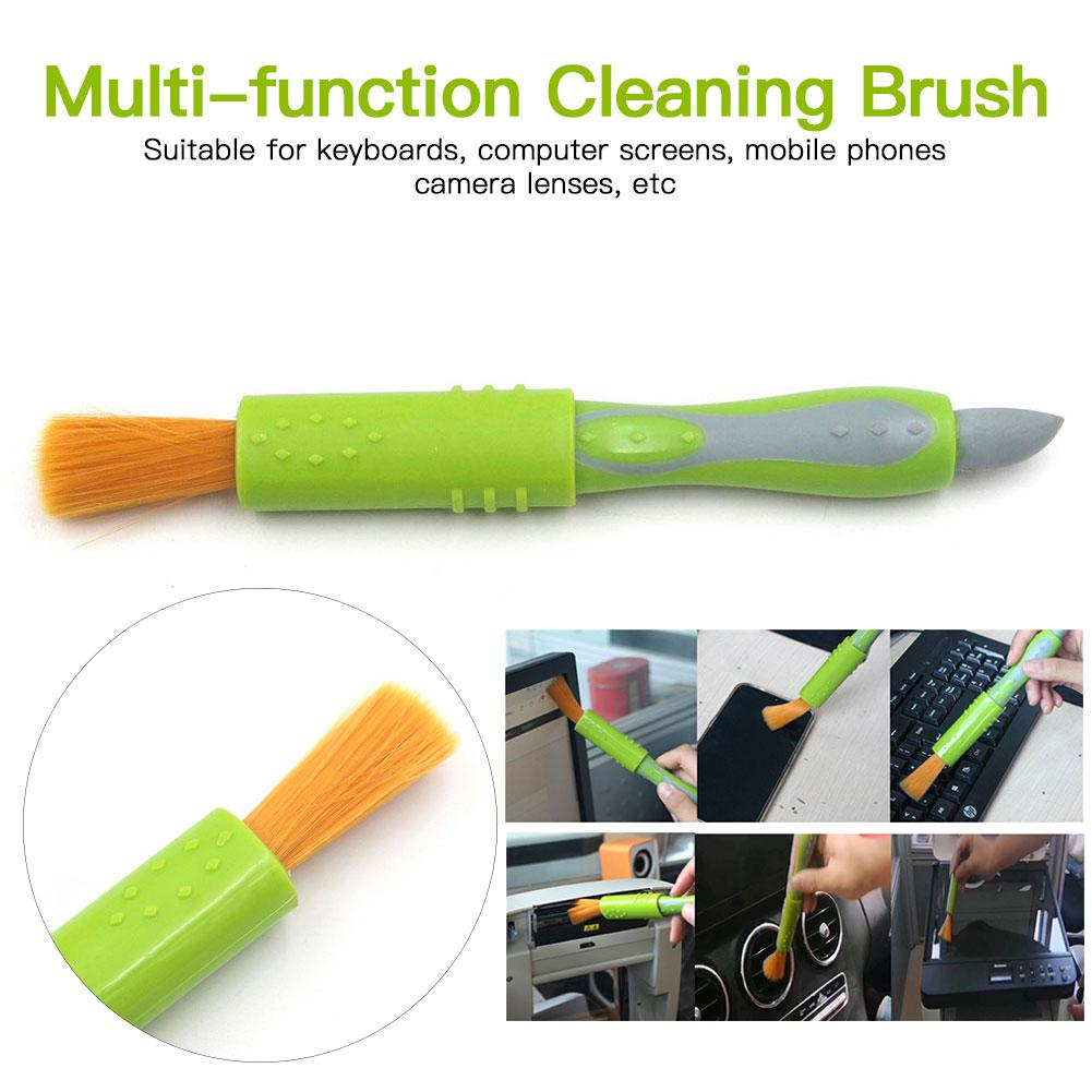 Multi-function Cleaning Brush Cleaning Soft Pen Fan Glass Dust Cleaner Brush For Computer Keyboard Office Cleaning Supplies #5YL