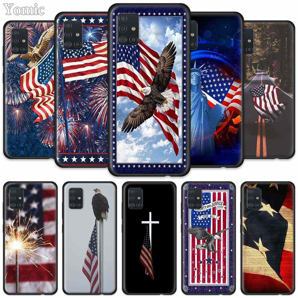 Amerika Usa Vlag Case Voor Samsung Galaxy A50 A51 A70 A71 A10 A20 E A30 S A31 A40 A41 Siliconen zwarte Soft Phone Shell Cover Yomic