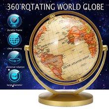 Terrestrial terra globo mapa do mundo com suporte, geográfica, brinquedo educativo, decoração de casa, escritório, ornamento, presente para crianças