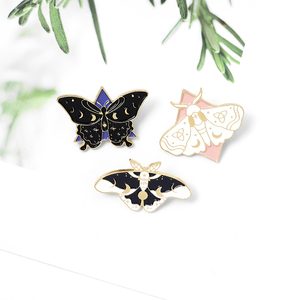 Butterfly stars moon milky way Enamel needle Moth insect animal Brooch clothes lapel backpack pin badge jewelry gifts for friend