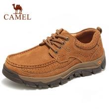 Camel buty męskie jesień podróży prawdziwej skóry buty w stylu casual mężczyźni wysokiej jakości narzędzi składane odporne na skóry wołowej antypoślizgowe męskie obuwie
