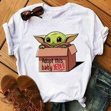 Cute Baby Yoda Mandalorian T Shirt Women Harajuku T-shirt Sa