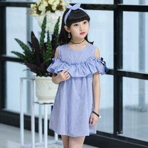 Children's Wear Girl Striped Dress Summer 2020 New Kids Princess Big Little Girl Korean Edition 12 11 10 9 8 7 6 5 Year Old(China)