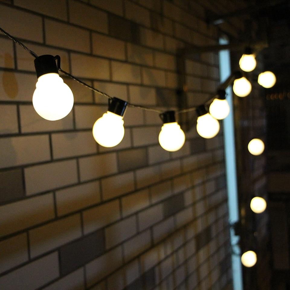 2.5M 5M LED String Light Outdoor Waterproof Fairy Lights Garland G50 Bulbs Garden Patio Wedding Christmas Decoration Light Chain