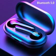 Y18 tws fones de ouvido bluetooth 5.0 fones de ouvido sem fio com microfone 9d estéreo esportes in-ear fone de ouvido fones de ouvido sem fio fone de ouvido