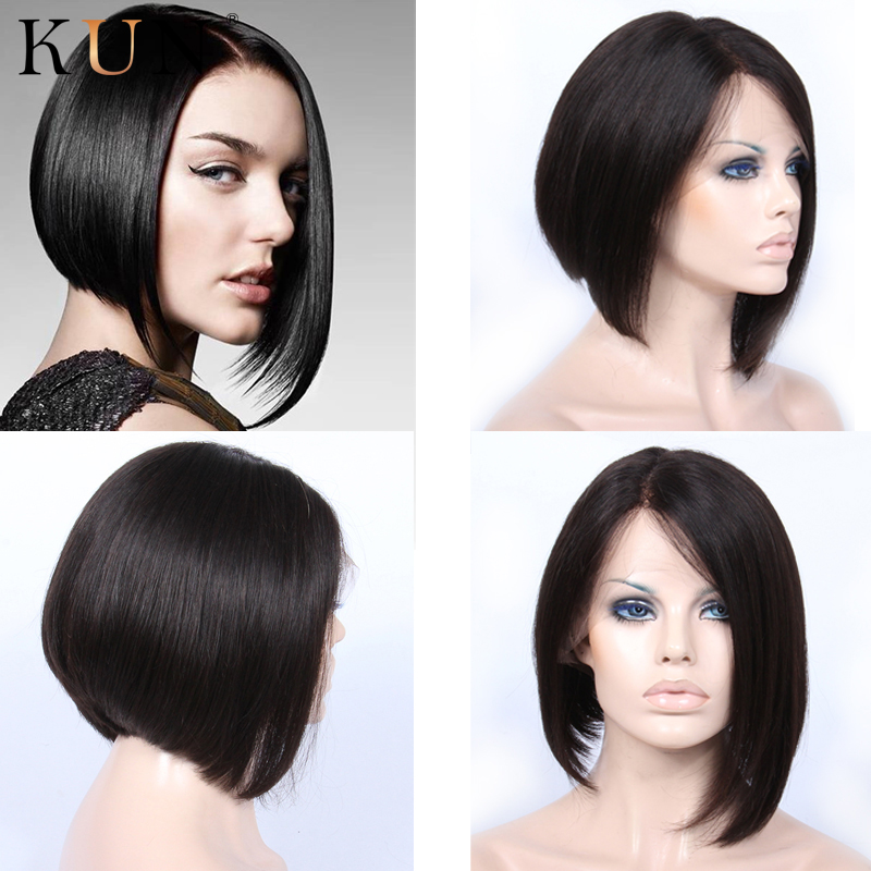 Short Bob Lace Front Human Hair Wigs 150% Density Brazilian Bob 13x4 Lace Front Wig Pre Plucked None Lace Wig For Women