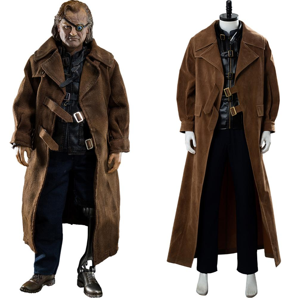 Movie Alastor Moody Cosplay Costume Outfit Shirt Pants Trench Coat Adult Men Halloween