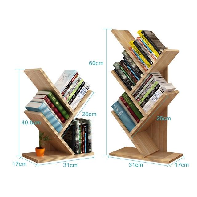 Bookcase Tree Shaped Display Shelf 6