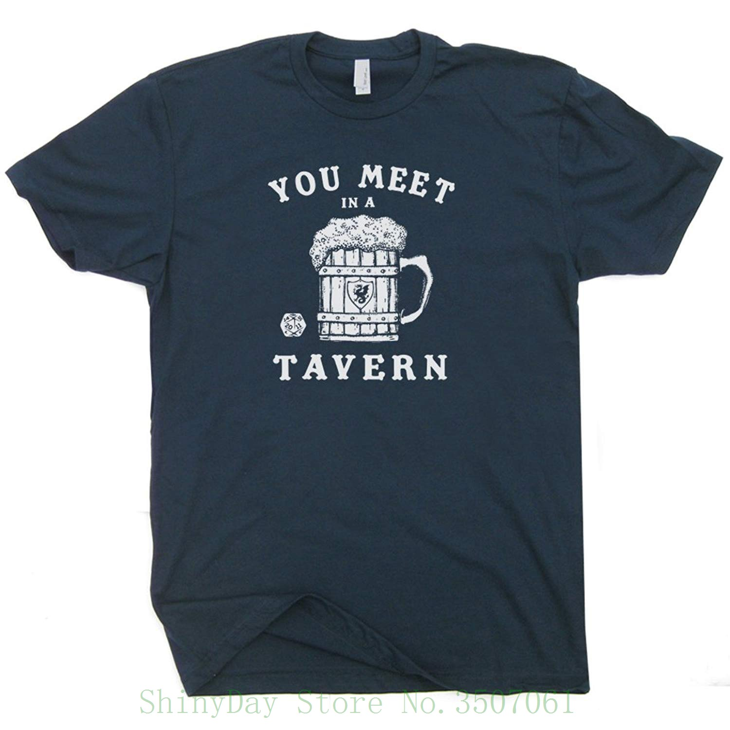 Dungeons Tavern Shirt 20 Sided Dice Shirts And Magic Dragons Beer Mug The Dungeon Master Fantasy Rpg Gamer Gathering Funny Tee image