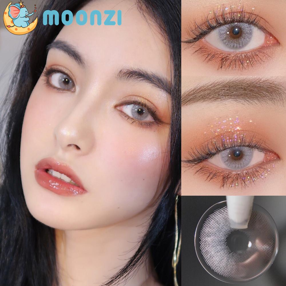 MOONZI винно-серого цвета, контактные линзы маленький ученик Цветной контактные линзы для глаз ежегодно Косплэй 2 шт./пара градусов близорукос...