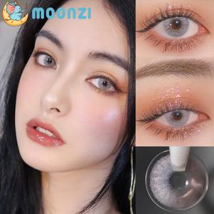 MOONZI wine gray contact lens small Pupil Colored Contact Lenses for Eyes yearly Cosplay 2pcs/pair degree Myopia prescription