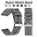 Ремешок нейлоновый для Samsung Galaxy 46 42 мм Watch 3 Gear S3 Active 2 Frontier, спортивный плетеный браслет для Huawei Watch Amazfit, 20 18 22 24 мм